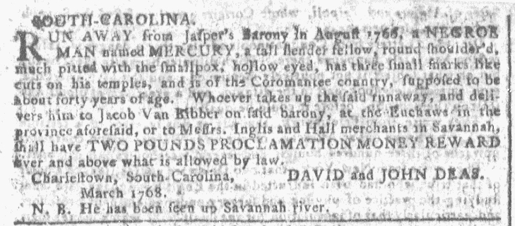 Apr 6 - Georgia Gazette Slavery 2