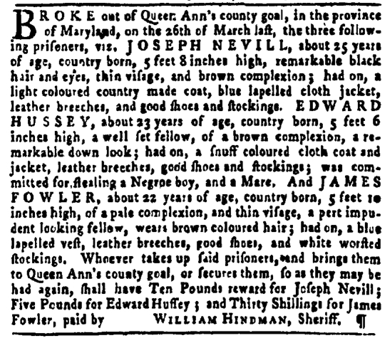 Apr 7 - Pennsylvania Gazette Slavery 2