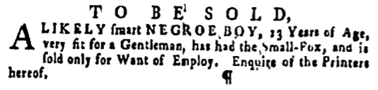 Apr 7 - Pennsylvania Gazette Supplement Slavery 2