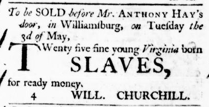 Apr 7 - Virginia Gazette Purdie and Dixon Slavery 2