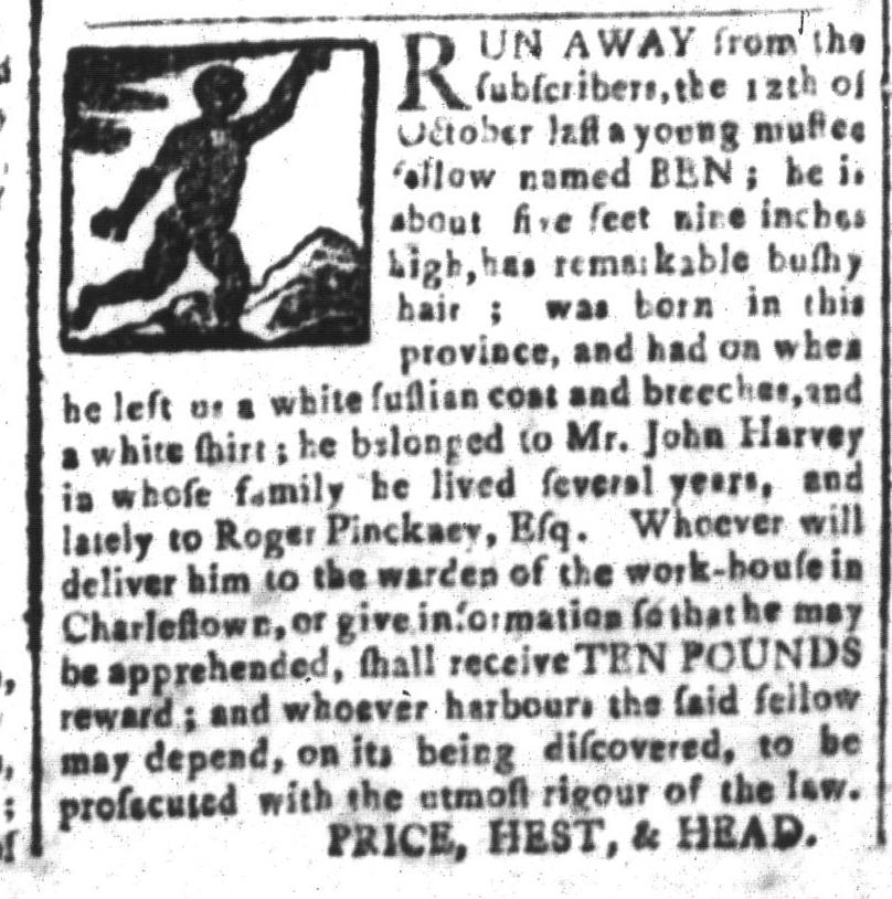 Apr 8 - South-Carolina and American General Gazette Slavery 10