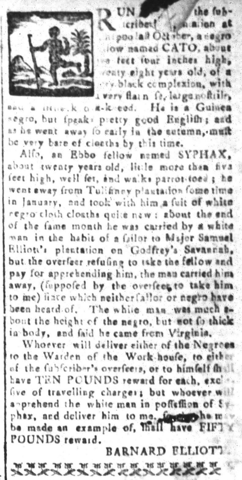 Apr 8 - South-Carolina and American General Gazette Slavery 11