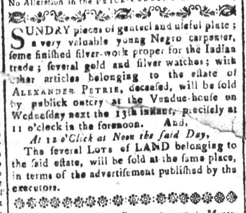 Apr 8 - South-Carolina and American General Gazette Slavery 5