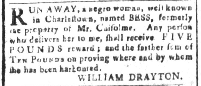 Apr 8 - South-Carolina and American General Gazette Slavery 9