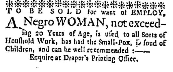 Mar 10 - Massachusetts Gazette Supplement Slavery 1