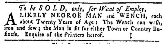Mar 10 - Pennsylvania Gazette Slavery 1