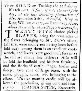 Mar 10 - Virginia Gazette Rind Slavery 5