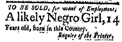 Mar 11 - New-London Gazette Slavery 1
