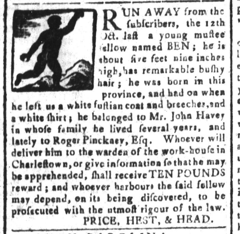 Mar 11 - South-Carolina and American General Gazette Slavery 11