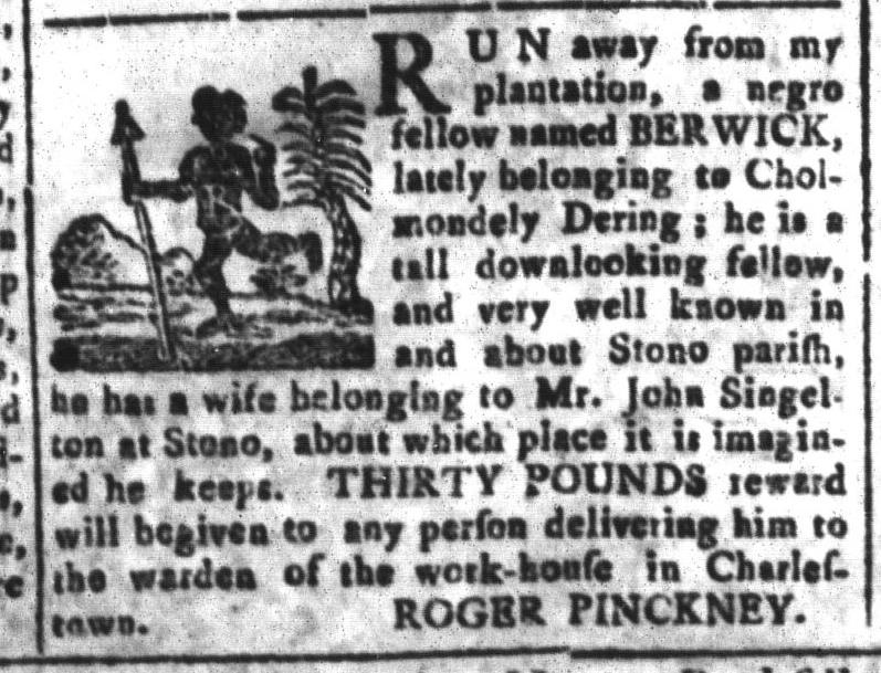 Mar 11 - South-Carolina and American General Gazette Slavery 15