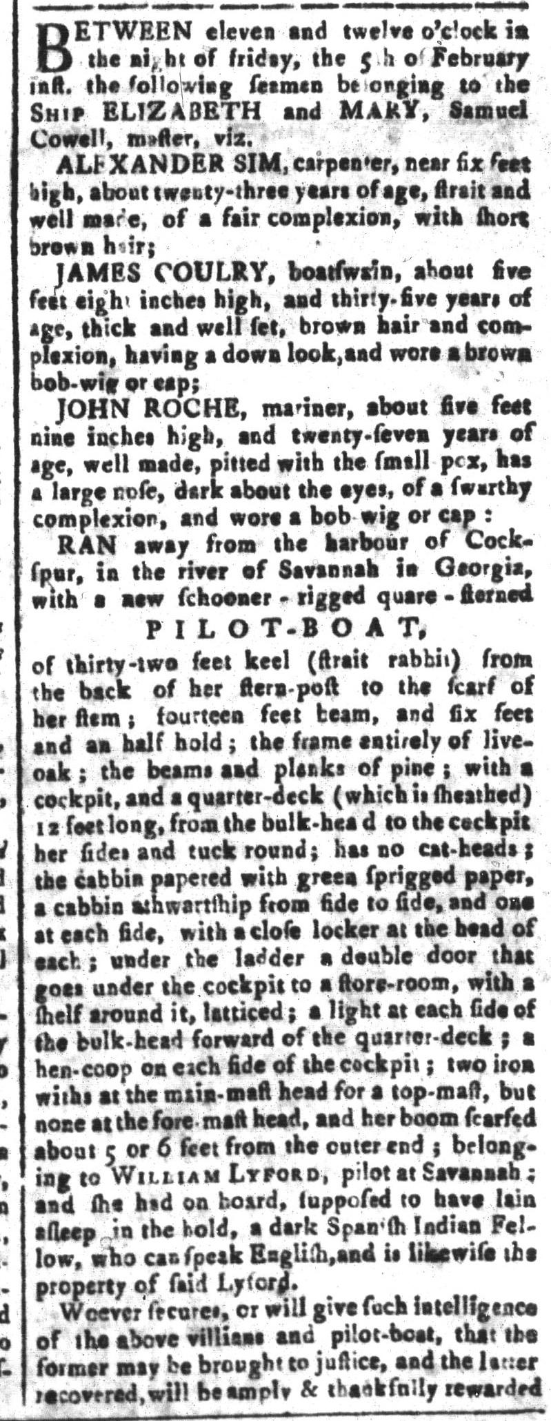 Mar 11 - South-Carolina and American General Gazette Slavery 16
