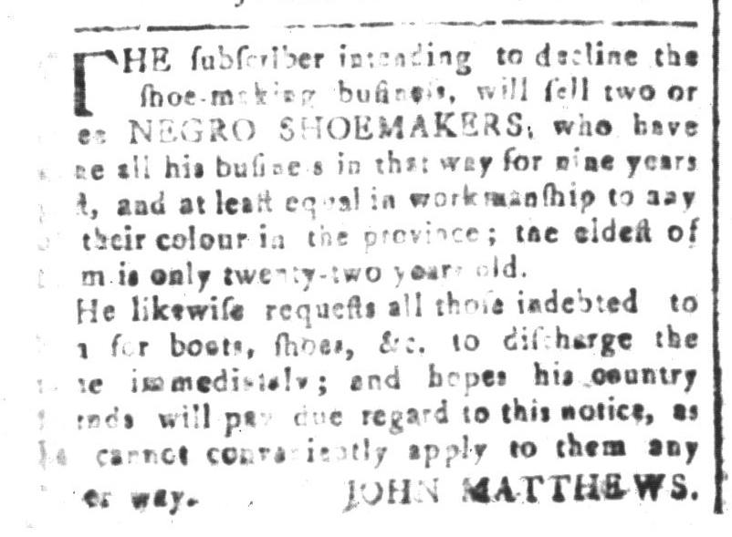Mar 11 - South-Carolina and American General Gazette Slavery 2
