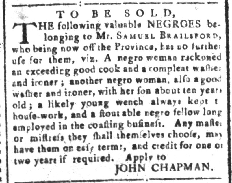 Mar 11 - South-Carolina and American General Gazette Slavery 3