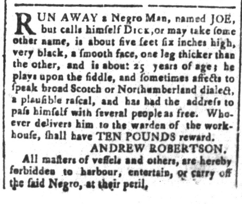 Mar 11 - South-Carolina and American General Gazette Slavery 5