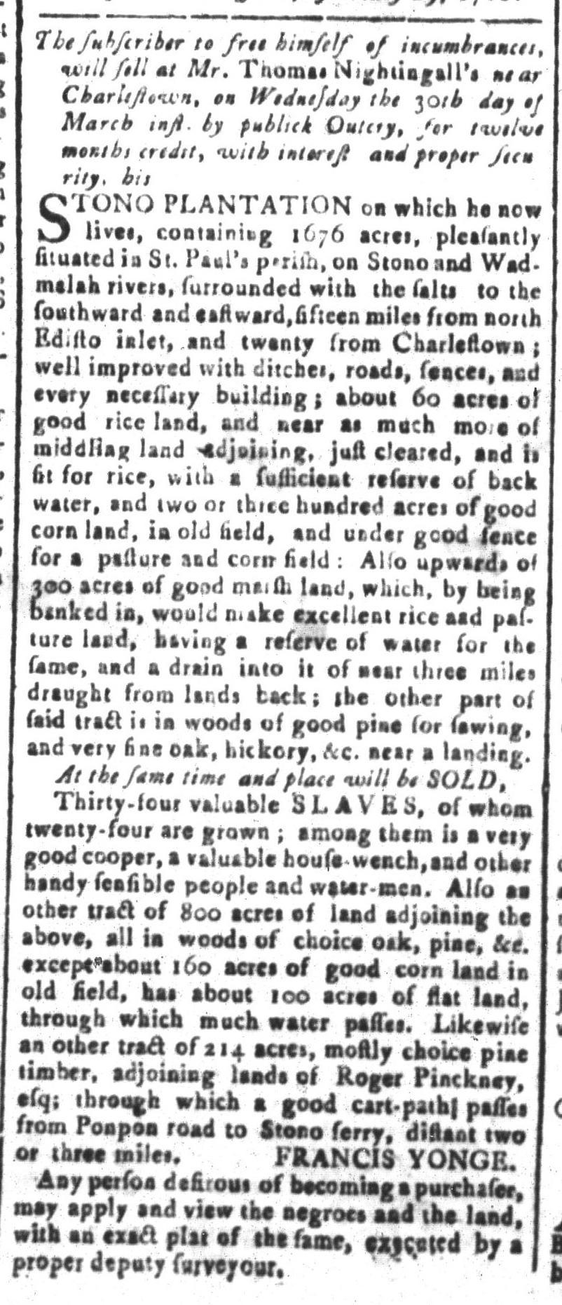 Mar 11 - South-Carolina and American General Gazette Slavery 6
