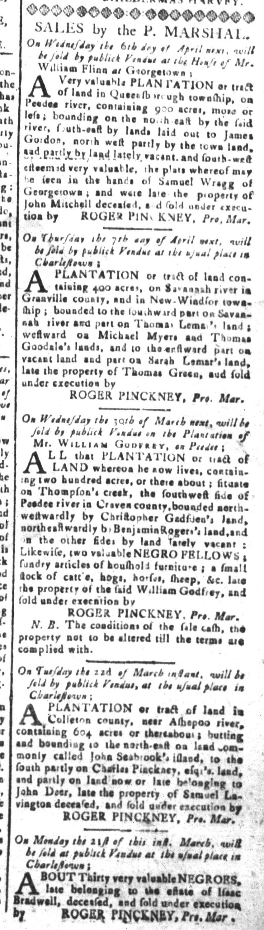 Mar 11 - South-Carolina and American General Gazette Slavery 7