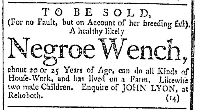 Mar 12 - Providence Gazette Slavery 1