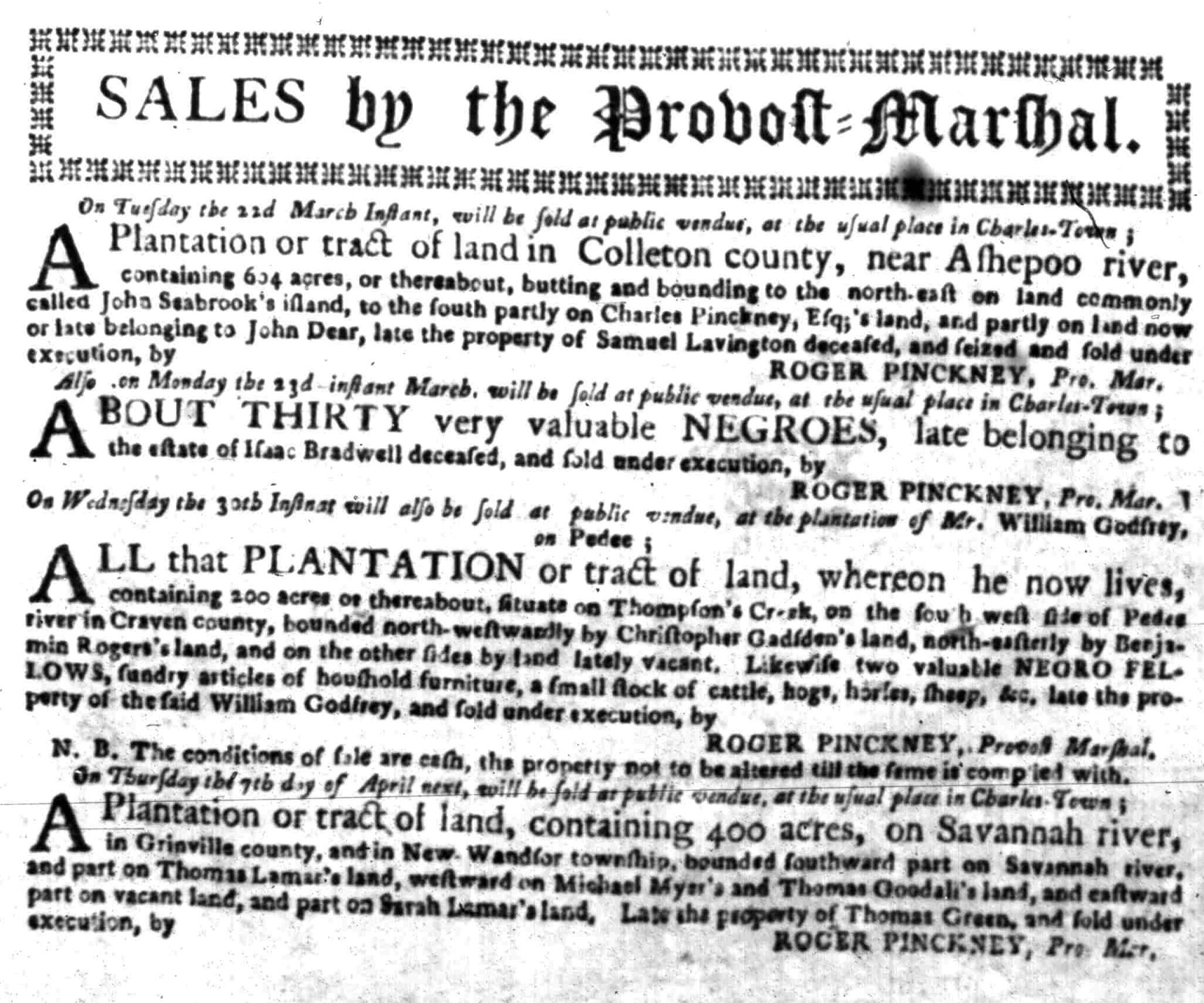 Mar 14 - South Carolina Gazette Slavery 4
