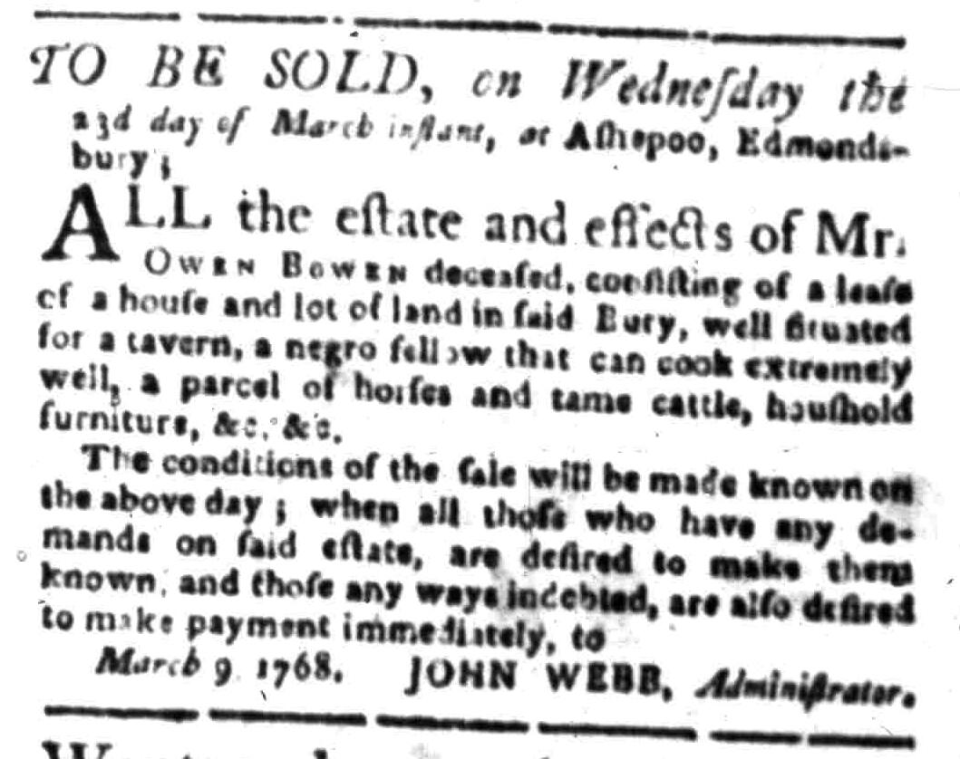 Mar 14 - South Carolina Gazette Slavery 6