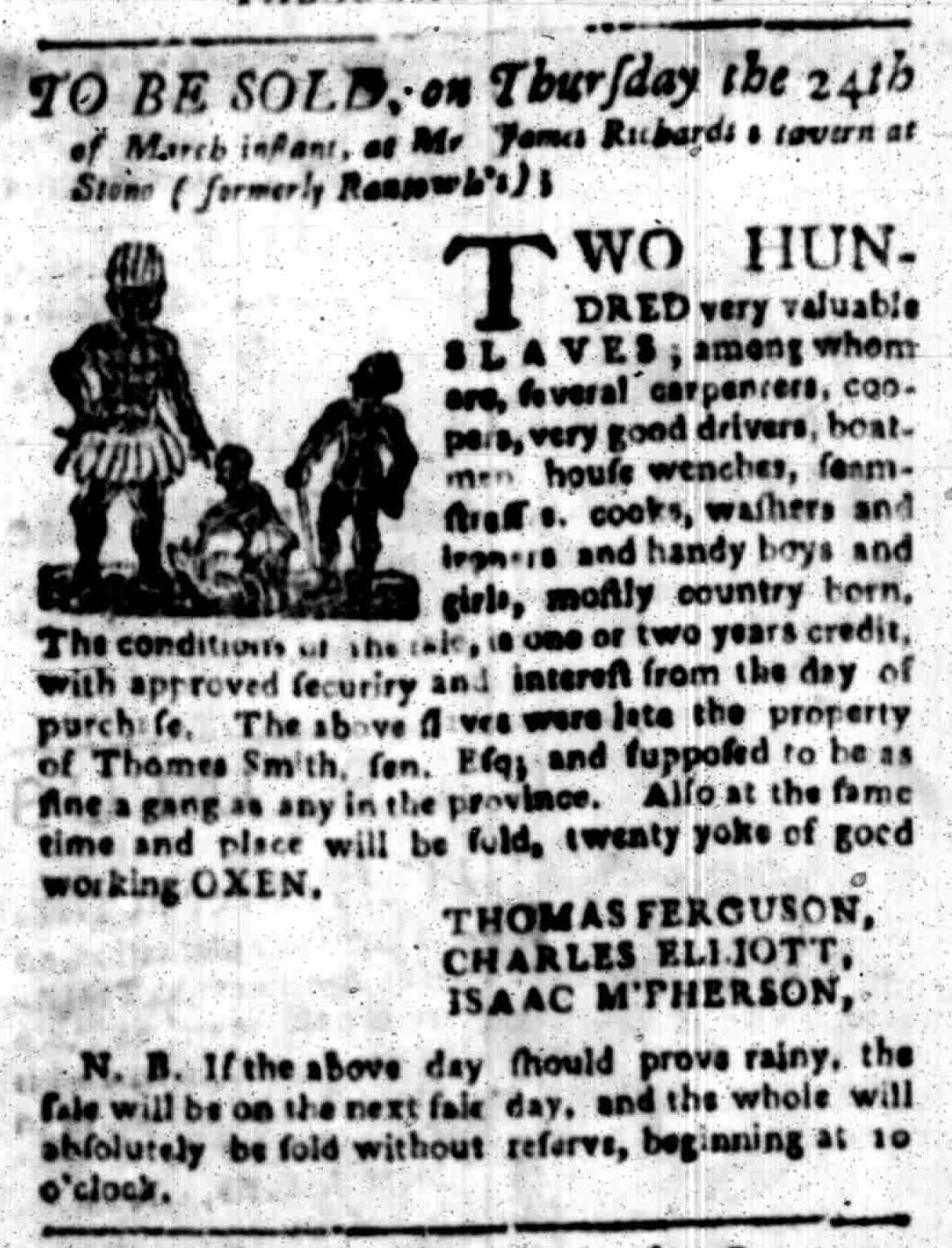 Mar 14 - South Carolina Gazette Slavery 8