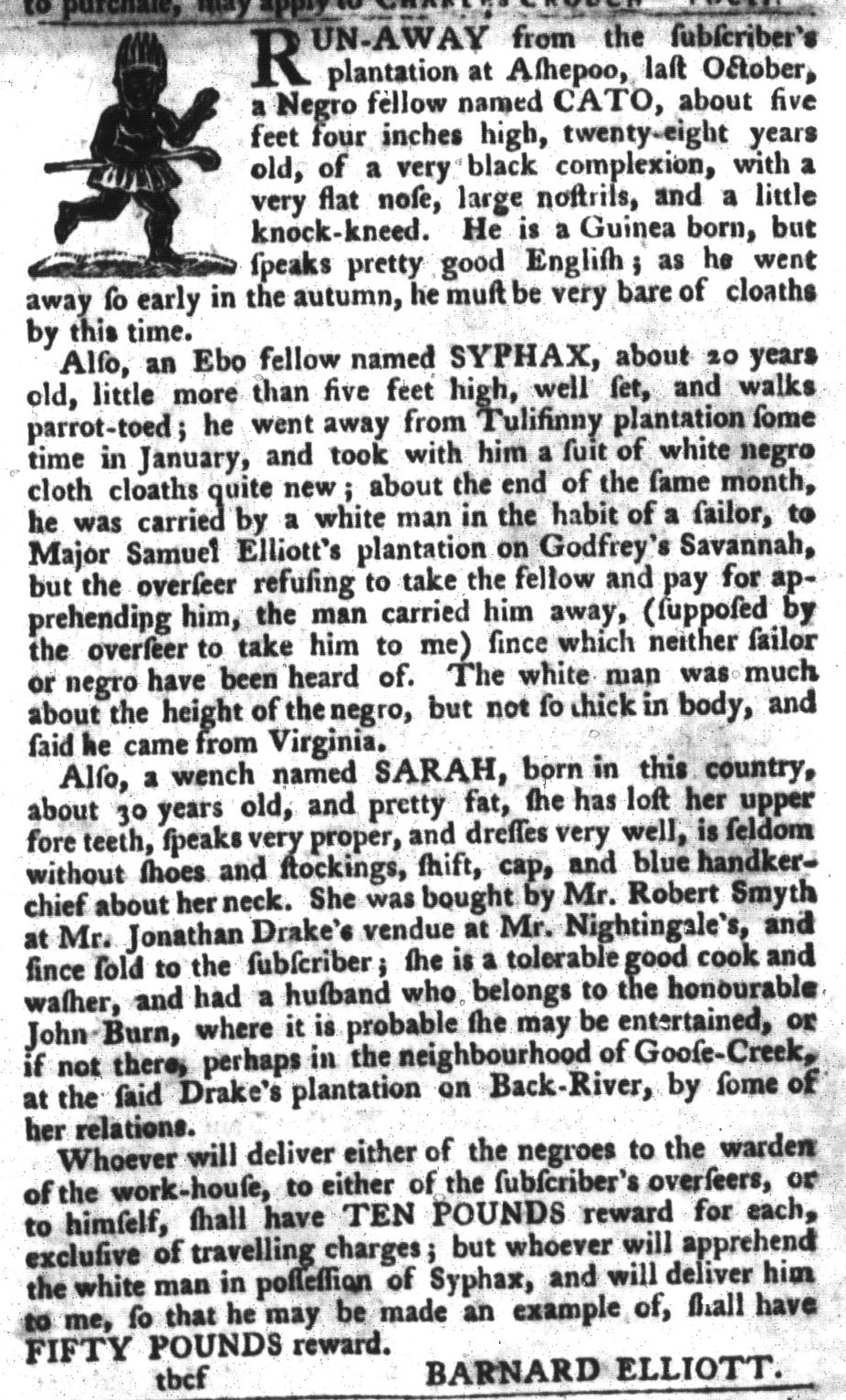 Mar 15 - South-Carolina Gazette and Country Journal Slavery 10