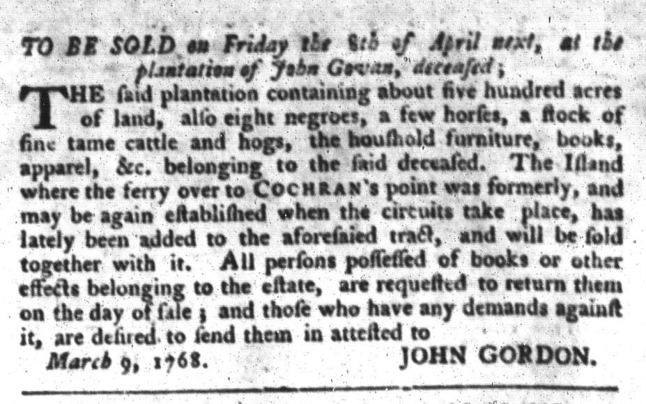 Mar 15 - South-Carolina Gazette and Country Journal Slavery 2