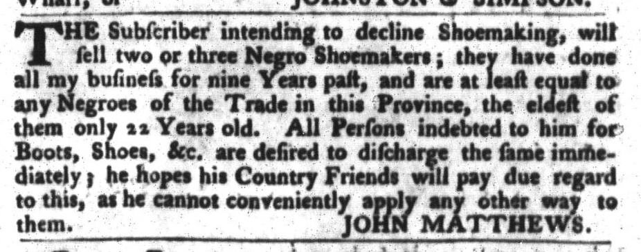 Mar 15 - South-Carolina Gazette and Country Journal Slavery 3