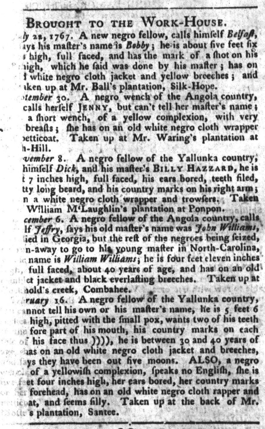 Mar 15 - South-Carolina Gazette and Country Journal Supplement Slavery 2