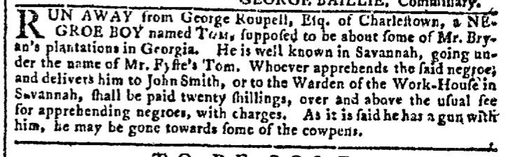 Mar 16 - Georgia Gazette Slavery 3