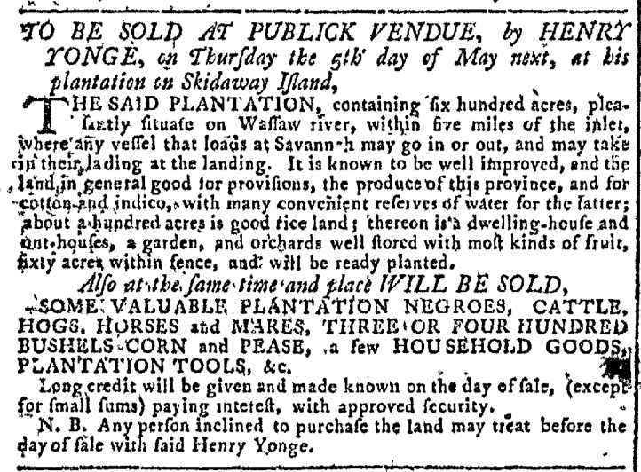 Mar 16 - Georgia Gazette Slavery 4