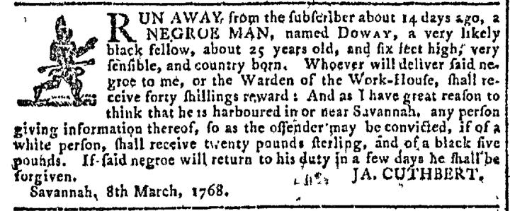 Mar 16 - Georgia Gazette Slavery 5