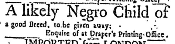 Mar 17 - Massachusetts Gazette Slavery 1