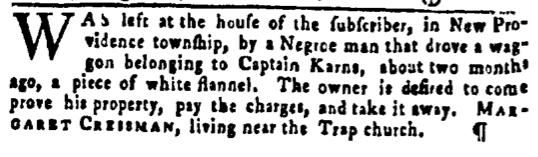 Mar 17 - Pennsylvania Gazette Slavery 2
