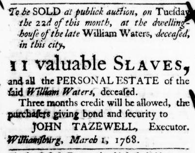 Mar 17 - Virginia Gazette Purdie and Dixon Slavery 4