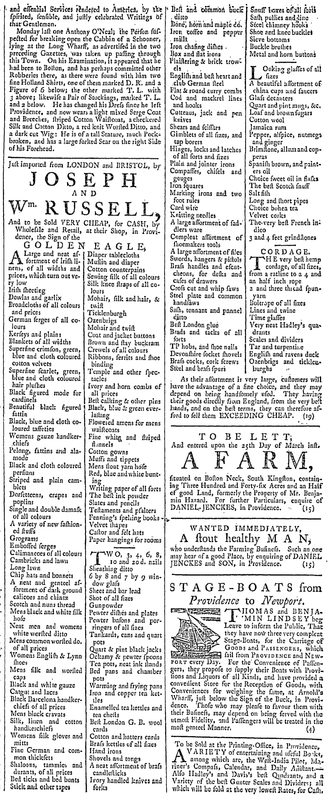 Mar 19 - 3:19:1768 Providence Gazette