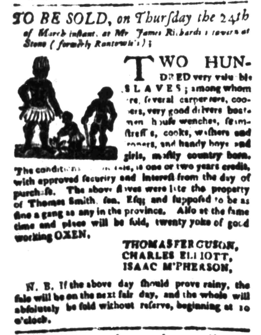 Mar 21 - South Carolina Gazette Slavery 4