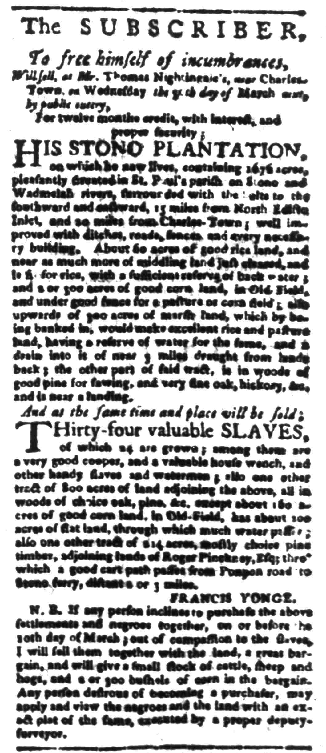 Mar 21 - South Carolina Gazette Slavery 6