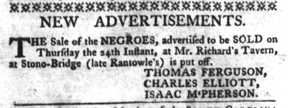 Mar 22 - South-Carolina Gazette and Country Journal Slavery 1