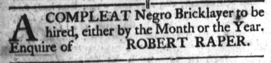 Mar 22 - South-Carolina Gazette and Country Journal Slavery 11