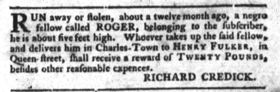 Mar 22 - South-Carolina Gazette and Country Journal Slavery 9