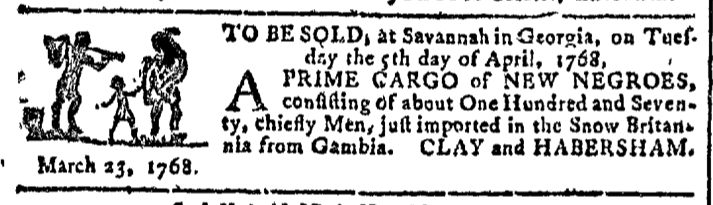 Mar 23 - Georgia Gazette Slavery 3