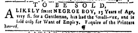 Mar 24 - Pennsylvania Gazette Slavery 3