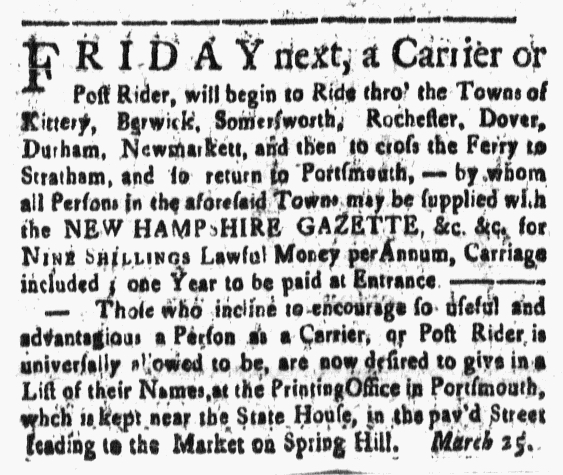 Mar 25 - 3:25:1768 New-Hampshire Gazette