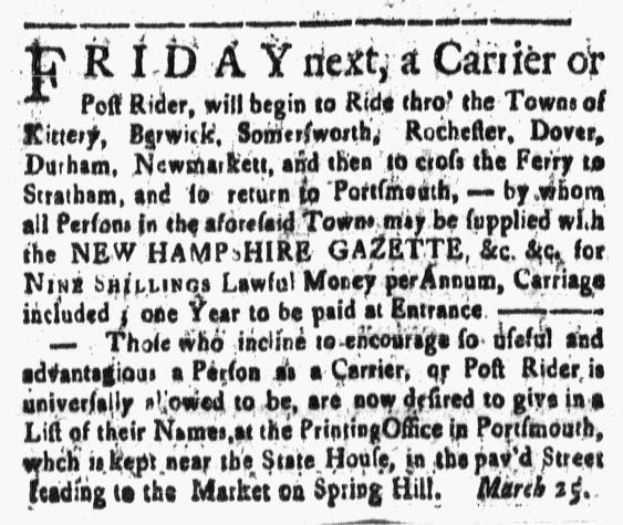 Mar 25 - 3:25:1768 New-Hampshire Gazette