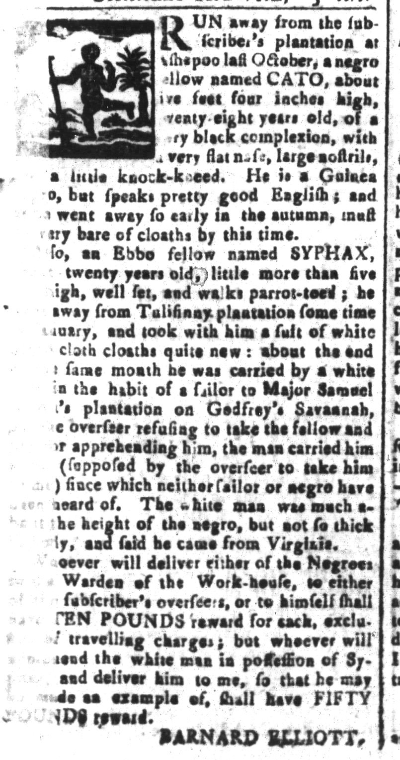 Mar 25 - South-Carolina and American General Gazette Slavery 2