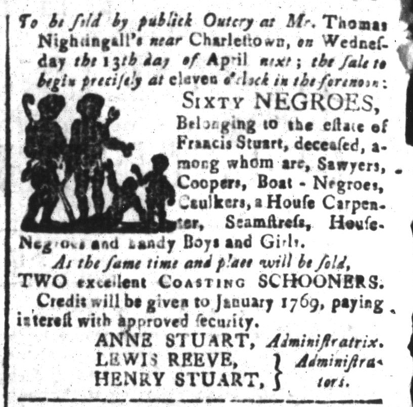 Mar 25 - South-Carolina and American General Gazette Slavery 6
