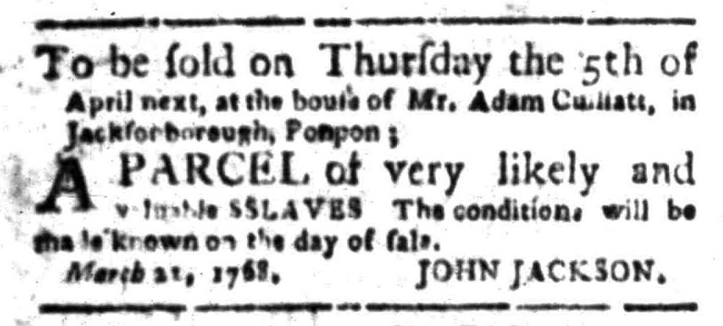 Mar 28 - South Carolina Gazette Slavery 3