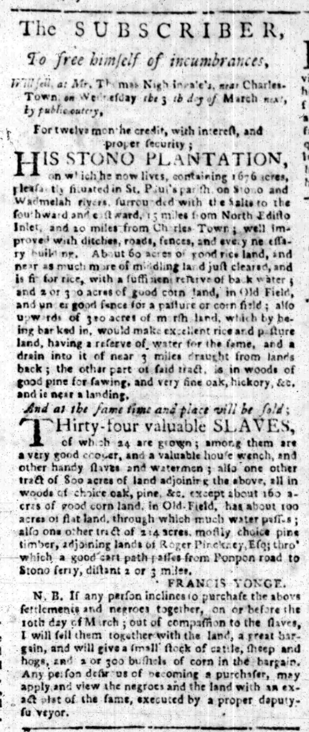 Mar 28 - South Carolina Gazette Slavery 5