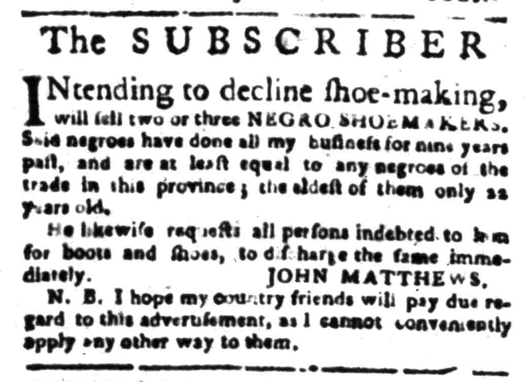 Mar 28 - South Carolina Gazette Slavery 8