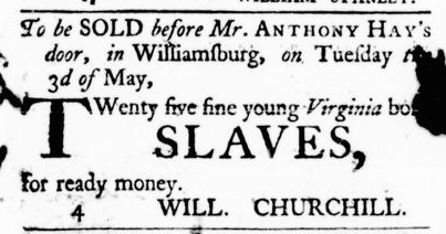 Mar 31 - Virginia Gazette Purdie and Dixon Slavery 3